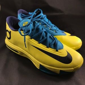 Nike Air KD VI 6 Seat Pleasant Yellow Teal Mens 12